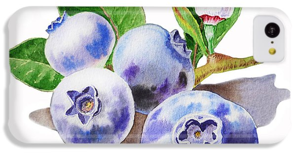 Artz Vitamins The Blueberries IPhone 5c Case by Irina Sztukowski
