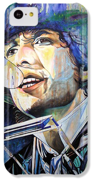 Bob Dylan iPhone 5c Case - Bob Dylan Tangled Up In Blue by Joshua Morton