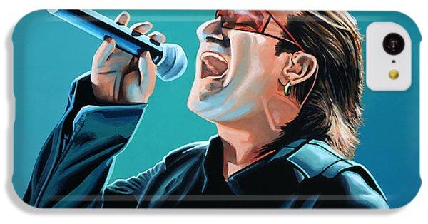 Bono Of U2 Painting IPhone 5c Case by Paul Meijering