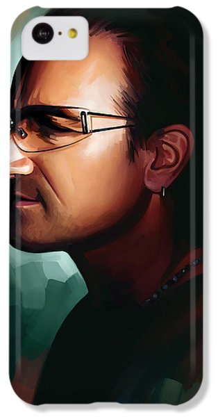 Bono iPhone 5c Case - Bono U2 Artwork 1 by Sheraz A