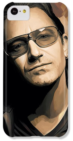 Bono iPhone 5c Case - Bono U2 Artwork 2 by Sheraz A