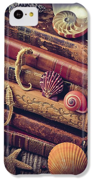 Books And Sea Shells IPhone 5c Case by Garry Gay