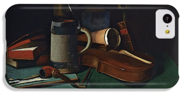 Violin iPhone 5c Case - Books Mug Pipe And Violin by John Frederick Peto