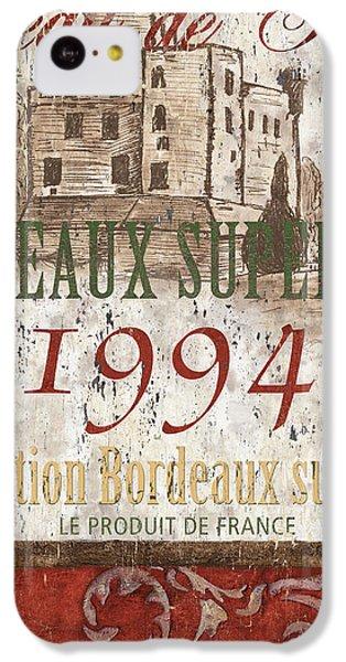 Bordeaux Blanc Label 2 IPhone 5c Case