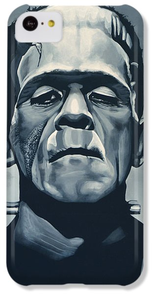 Portraits iPhone 5c Case - Boris Karloff As Frankenstein  by Paul Meijering