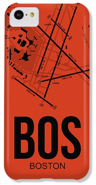 Transportation iPhone 5c Case - Boston Airport Poster 2 by Naxart Studio