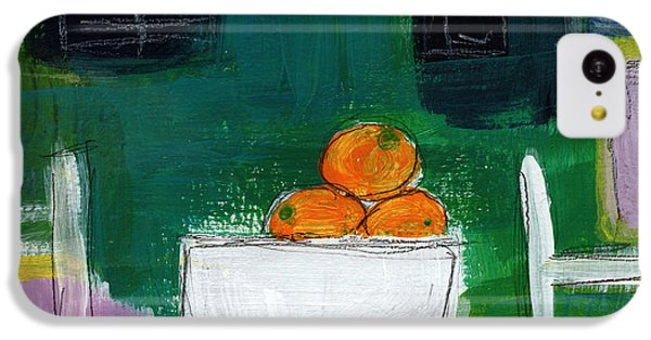 Fruit Bowl iPhone 5c Case - Bowl Of Oranges- Abstract Still Life Painting by Linda Woods