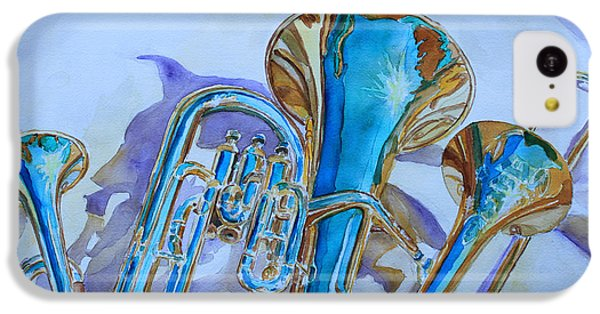 Jazz iPhone 5c Case - Brass Candy Trio by Jenny Armitage
