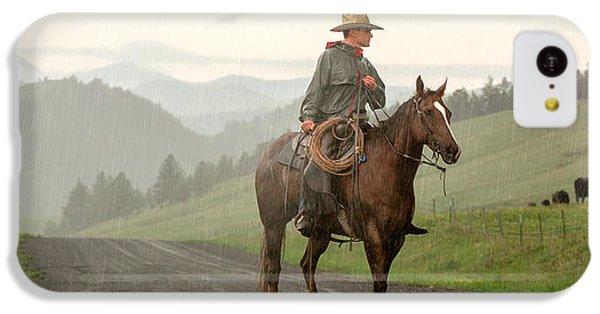 Rural Scenes iPhone 5c Case - Braving The Rain by Todd Klassy