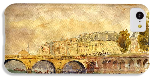 Bridge Over The Seine Paris. IPhone 5c Case by Juan  Bosco