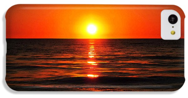 Ocean Sunset iPhone 5c Case - Bright Skies - Sunset Art By Sharon Cummings by Sharon Cummings