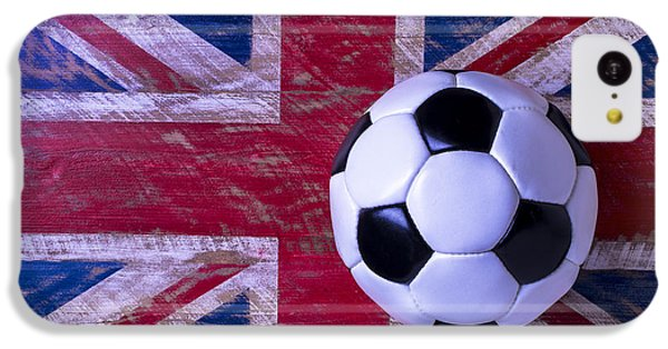 British Flag And Soccer Ball IPhone 5c Case by Garry Gay