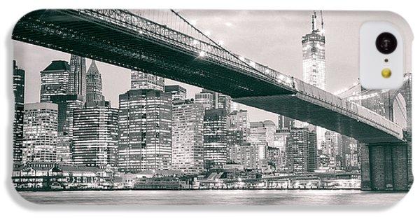 Brooklyn Bridge And New York City Skyline At Night IPhone 5c Case