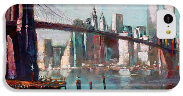 Brooklyn Bridge And Twin Towers IPhone 5c Case by Ylli Haruni