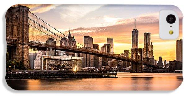 Brooklyn Bridge iPhone 5c Case - Brooklyn Bridge At Sunset  by Mihai Andritoiu