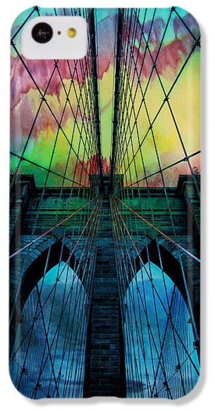 City Scenes iPhone 5c Case - Psychedelic Skies by Az Jackson