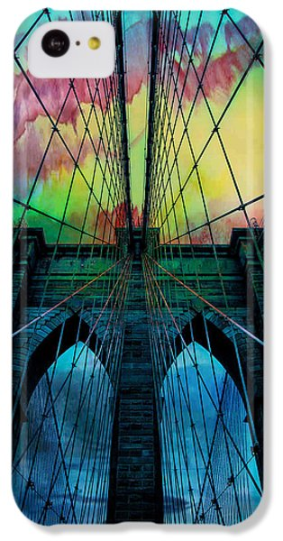 Psychedelic Skies IPhone 5c Case by Az Jackson