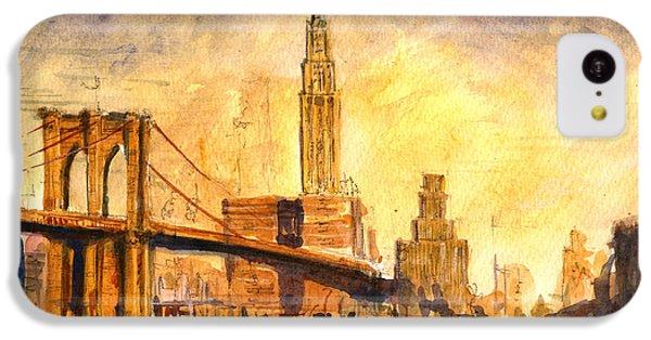 Brooklyn Bridge iPhone 5c Case - Brooklyn Bridge New York by Juan  Bosco