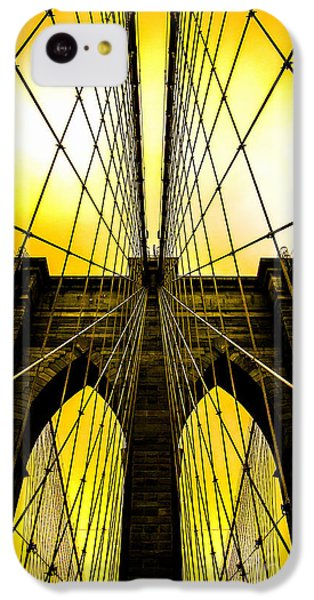 Brooklyn Bridge Yellow IPhone 5c Case by Az Jackson