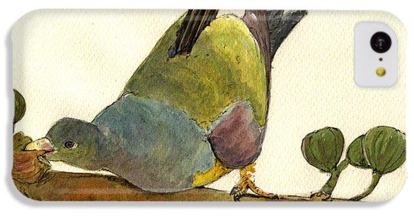 Pigeon iPhone 5c Case - Bruce S Green Pigeon by Juan  Bosco