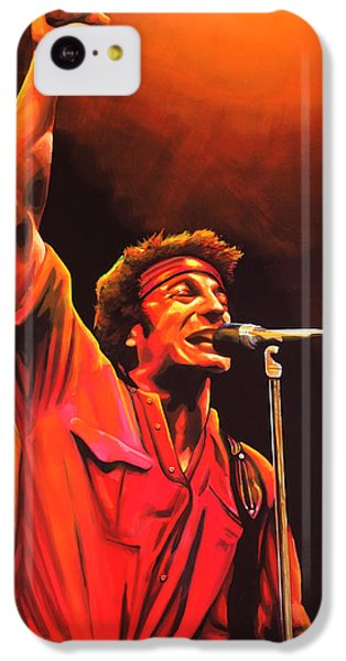 Bruce Springsteen Painting IPhone 5c Case by Paul Meijering