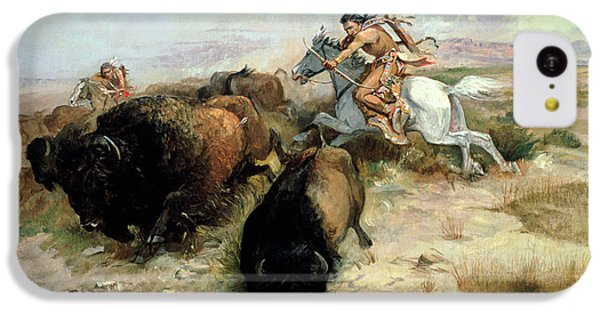 Buffalo Hunt IPhone 5c Case by Charles Marion Russell