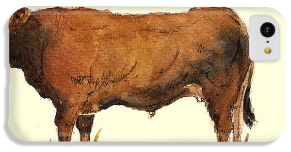 Bull iPhone 5c Case - Bull by Juan  Bosco