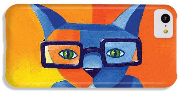 Business Cat IPhone 5c Case by Mike Lawrence