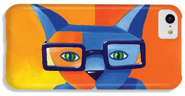 Cat iPhone 5c Case - Business Cat by Mike Lawrence