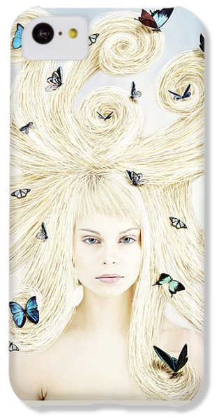 Butterfly Girl IPhone 5c Case