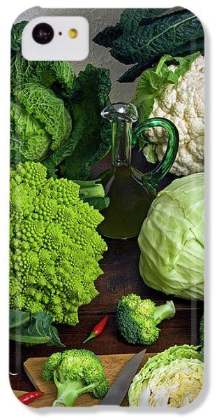 Cabbages -clockwise- Broccoli IPhone 5c Case by Nico Tondini