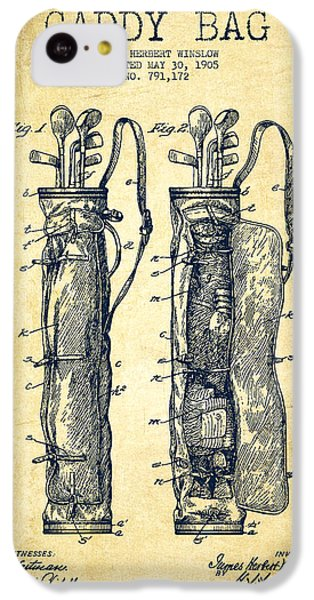 Caddy Bag Patent Drawing From 1905 - Vintage IPhone 5c Case