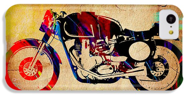 Cafe Racer Painting. IPhone 5c Case by Marvin Blaine