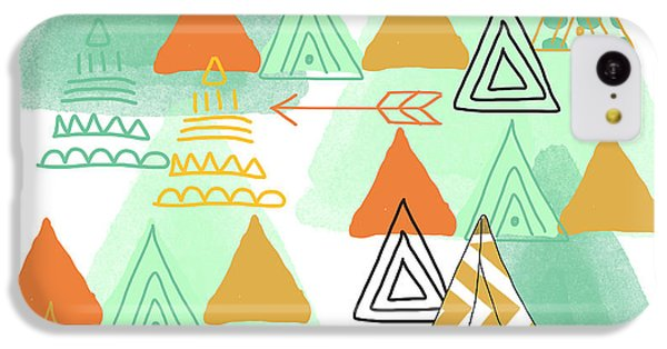 Camping IPhone 5c Case by Linda Woods