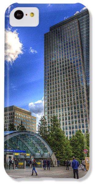 Canary Wharf Station London IPhone 5c Case by David Pyatt