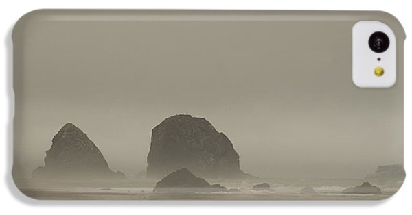 IPhone 5c Case featuring the photograph Cannon Beach In A Fog Oregon by Yulia Kazansky