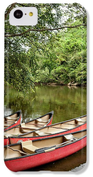 Belize iPhone 5c Case - Canoeing The Macal River In Jungle Area by Michele Benoy Westmorland