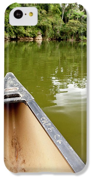 Belize iPhone 5c Case - Canoeing The Macal River In Jungle by Michele Benoy Westmorland