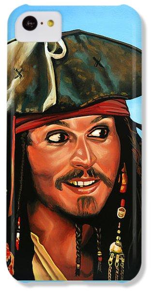 Captain Jack Sparrow Painting IPhone 5c Case