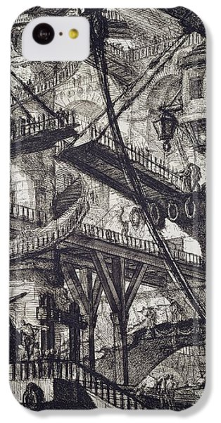 Carceri Vii IPhone 5c Case by Giovanni Battista Piranesi