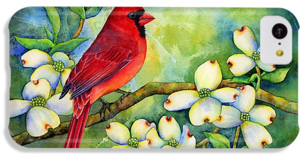 Cardinal On Dogwood IPhone 5c Case by Hailey E Herrera
