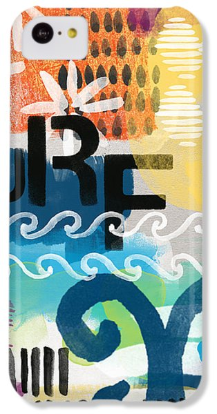 Beach iPhone 5c Case - Carousel #7 Surf - Contemporary Abstract Art by Linda Woods