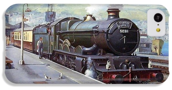 Train iPhone 5c Case - Castle At Kingswear 1957 by Mike Jeffries