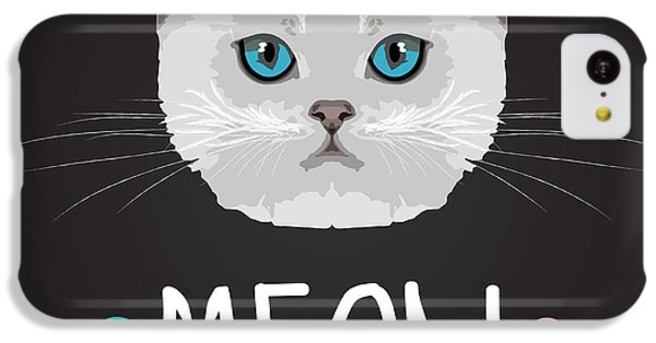 T Shirts iPhone 5c Case - Cat Typography, T-shirt Graphics by Patterntrends
