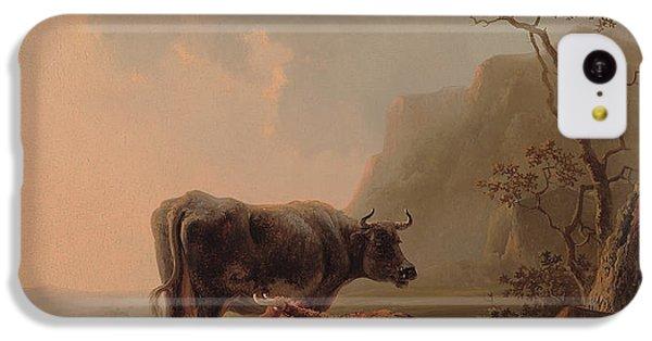 Cow iPhone 5c Case - Cattle In An Italianate Landscape by Jacob van Strij
