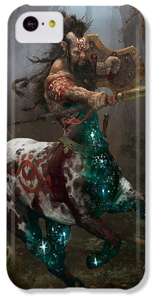 Centaur Token IPhone 5c Case by Ryan Barger