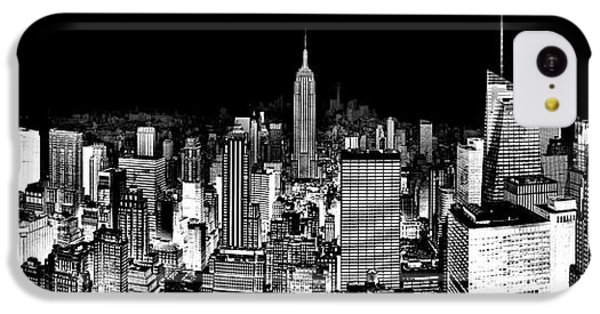 Empire State Building iPhone 5c Case - Center Of The Universe by Az Jackson
