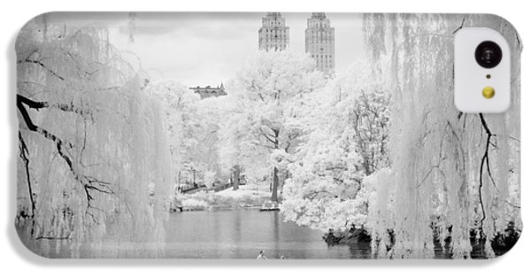 IPhone 5c Case featuring the photograph Central Park Lake-infrared Willows by Dave Beckerman