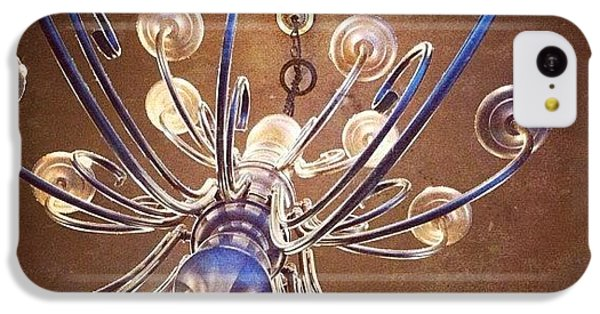 Decorative iPhone 5c Case - Chandelier In Blue by Suzanne Goodwin