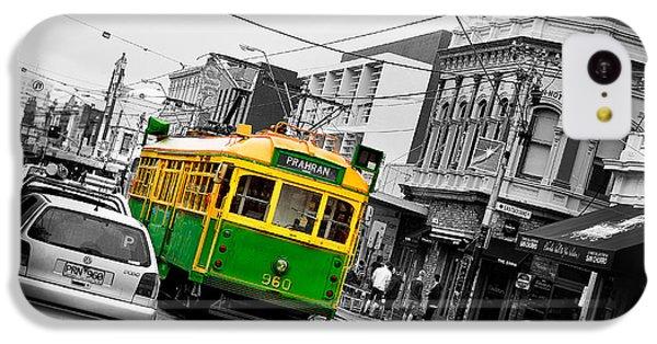 Swan iPhone 5c Case - Chapel St Tram by Az Jackson